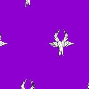 Purpure, seraph's wings argent