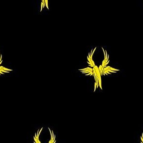 Sable, seraph's wings Or