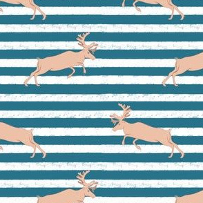Blue Stripe pastel Deer
