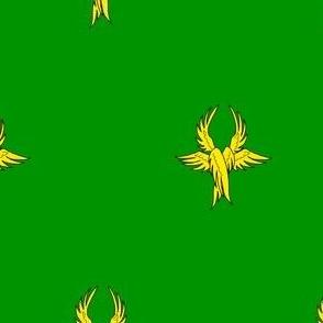 Vert, seraph's wings Or