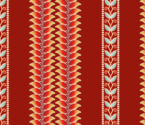 Heliconia 1a fabric by muhlenkott on Spoonflower - custom fabric