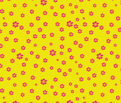 pink tropical flowers neon fabric by stargazingseamstress on Spoonflower - custom fabric