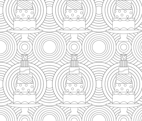 CakeCakeCake fabric by offtherailscosplay on Spoonflower - custom fabric