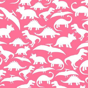 White Dinos on Hot Pink big