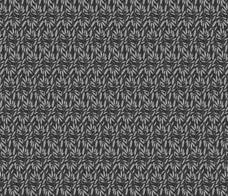 Suki Neutral BW LeavesDark-Sm3 fabric by robinpickens on Spoonflower - custom fabric