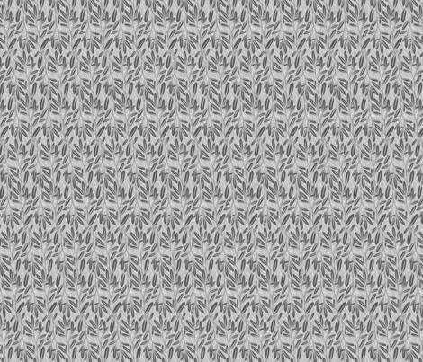 Suki Neutral BW_LeavesLightwFix_Sm3 fabric by robinpickens on Spoonflower - custom fabric