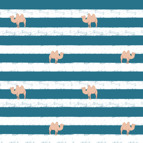 Camel on Stripe fabric by jjdesignwithlove on Spoonflower - custom fabric