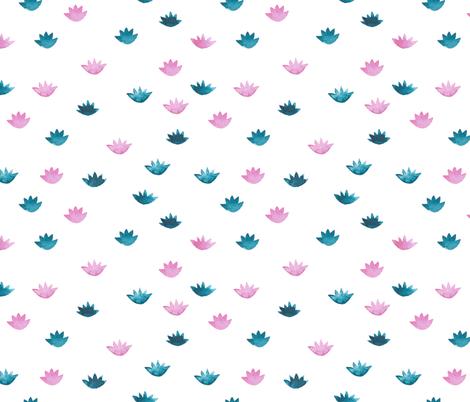 lotuses bicolored fabric by ginger_lemon on Spoonflower - custom fabric