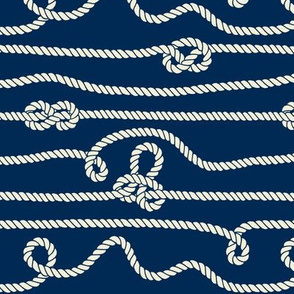 Intricate Rope Pattern with Knots