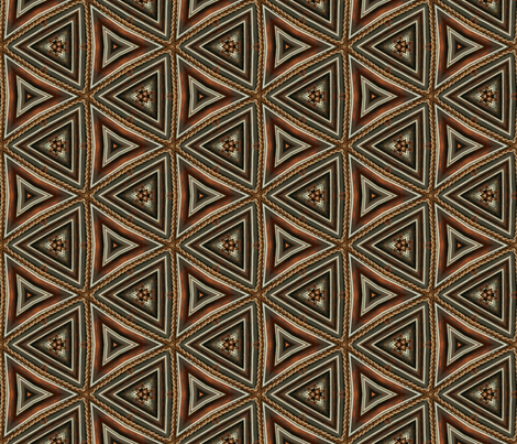 Rope Wicker Triangles fabric by sewingscientist on Spoonflower - custom fabric