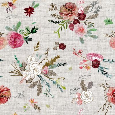 Fable Bouquet (linen) MED