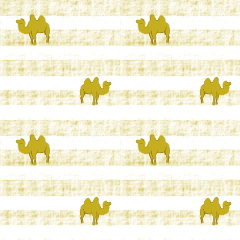 Camel on stripe fabric by jjdesignwithlove on Spoonflower - custom fabric