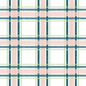 Gingham, Blue Green Pink