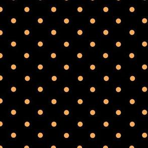 Spots Small Orange Black