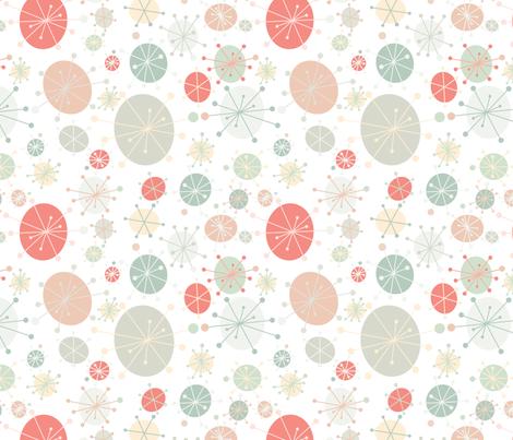 Faded Mod Circles fabric by tiffanyaryee on Spoonflower - custom fabric