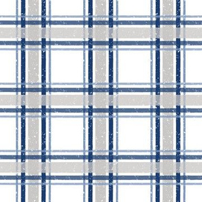 Gingham navy and grey