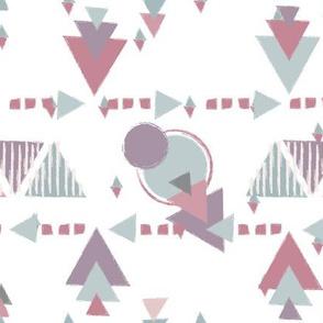 Purple Tribal Geometric