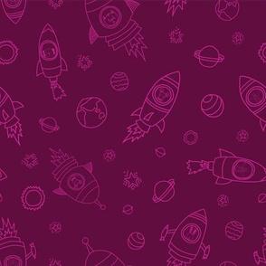 Space animals pink