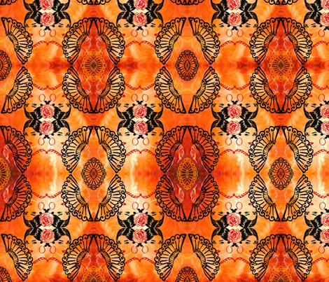 Flamenco fabric by pamg123 on Spoonflower - custom fabric
