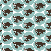 badger, baby boy, boy, girl, baby girl, animals, baby, family, dachs, dot, animal, woodland, circle, teal,