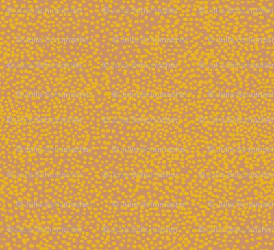 mustard dots on blush