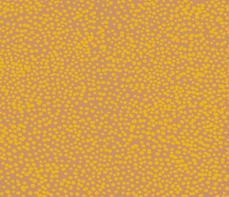 mustard dots on blush fabric by juliaschumacher on Spoonflower - custom fabric