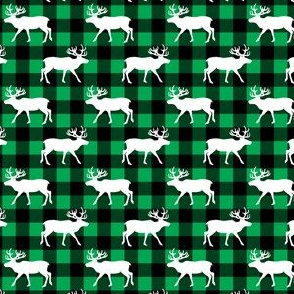 (small scale) reindeer on plaid