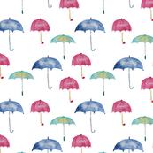 Rain vibes    watercolor umbrellas pattern