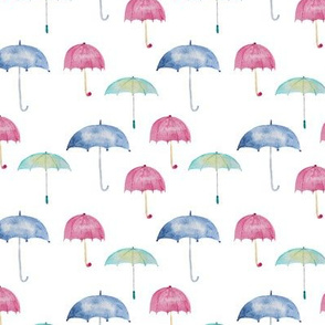 Rain vibes || watercolor umbrellas pattern