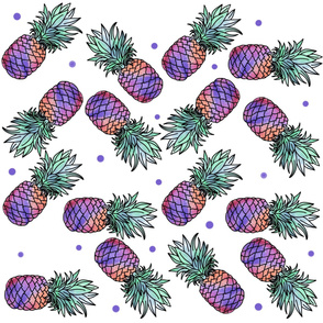 Multicolored Pineapples