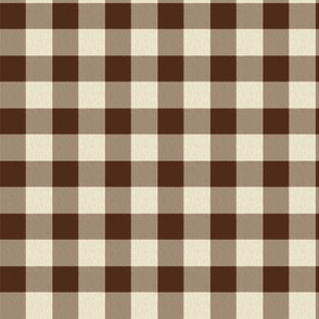 Chocolate and Cream Tiny Checks