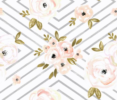 Peach_Roses_Mod_rotate fabric by crystal_walen on Spoonflower - custom fabric