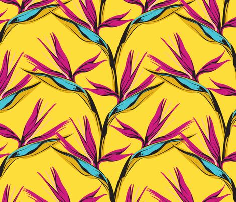 Bird of Paradise fabric by lapetitelecour on Spoonflower - custom fabric
