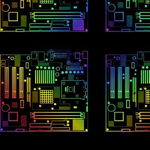 Rainbow Motherboard Outlines 02