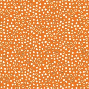 Snow bubbles - Arctic Collection - white on orange