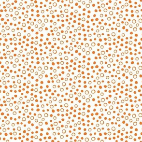 Snow bubbles - Arctic Collection - orange on white