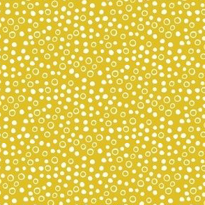 Snow bubbles - Arctic Collection - mustard yellow