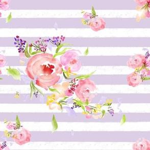 Striped Watercolor Flower