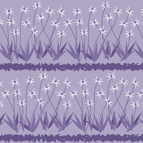 Dances With Breeze: Violet Purple Floral Stripe