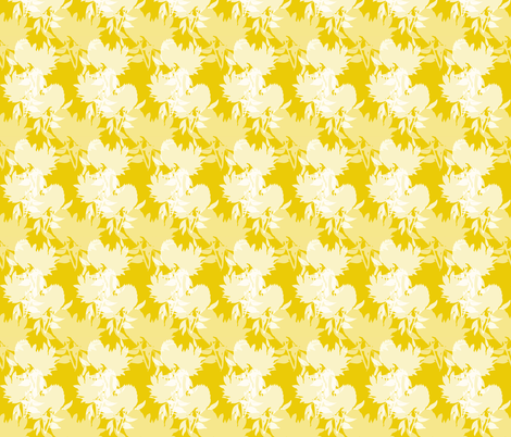 Floral - gold fabric by youdesignme on Spoonflower - custom fabric