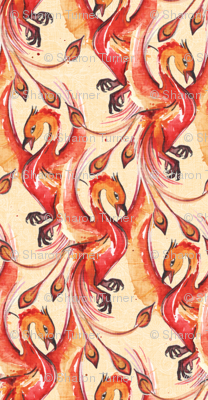 phoenix watercolor small