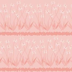 Dances With Breeze: Rose Gold Floral Stripe