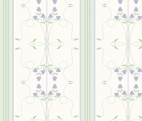 wallflower arabesque violet purple floral stripe fabric dept 6 spoonflower. Black Bedroom Furniture Sets. Home Design Ideas
