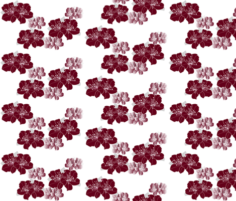 Flowers on white fabric by evy_v_design on Spoonflower - custom fabric
