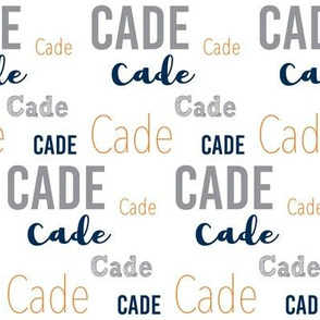 Cade - Navy, Orange, Grey