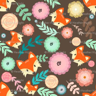 Autumn Fox Floral
