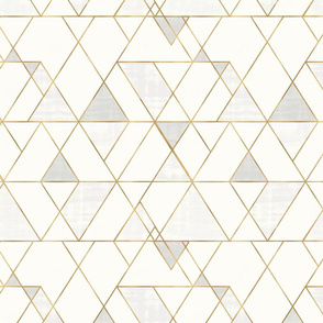 Mod Triangles cream gold
