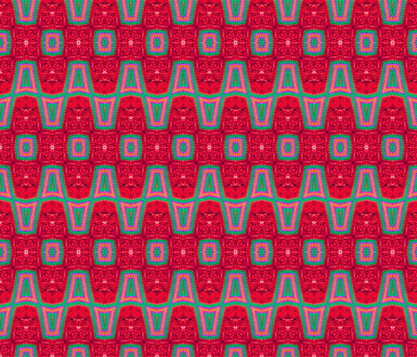 Watermelon Zigs On Hot Lava fabric by just_meewowy_design on Spoonflower - custom fabric