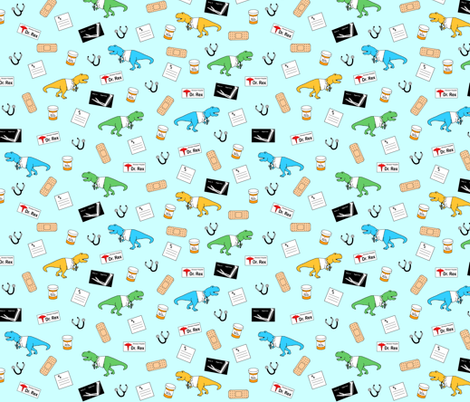 Doctor rex fabric by ergnome on Spoonflower - custom fabric