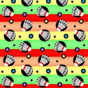 Shuttlecock  / On rainbow Stripes / Badminton